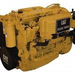 Silnik Catterpillar modelu żółtego, używany w maszynach nowej produkcji