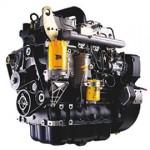 Silniki marki JCB, produkowane na skalę światową. Model czarny z elementami koloru pomarańczowego