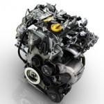 Silnik marki Renault z wieloma białymi elementami znajdującymi się na samej górze asortymentu